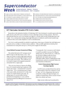 Superconductor Week Newsletter
